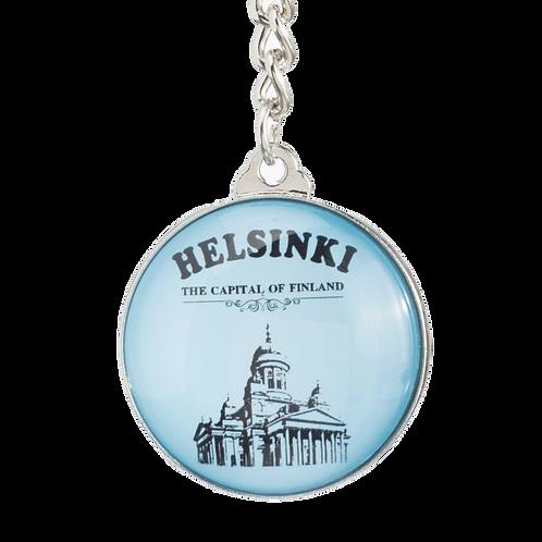 Helsinki Key Ring Glass Cathedral Souvenir | Helsinki Avaimenperä Lasi  Tuomiokirkko Matkamuisto