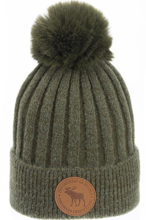 N15B / Winter Hat Leather Stamp Sweden