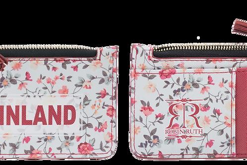 Finland Card Holder Wallet Floral | Suomi Kortti Kotelo Lompakko Kukallinen