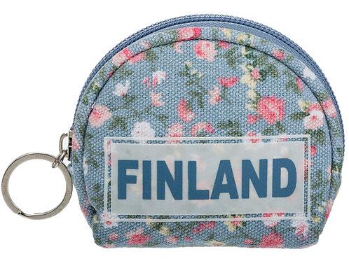 Finland Coin Wallet Floral Style | Suomi Kolikko Lompakko Kukallinen Tyyli