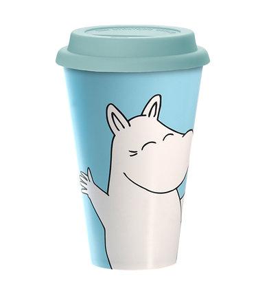 Moomintroll Happy Take Away Mug Biodegradeable