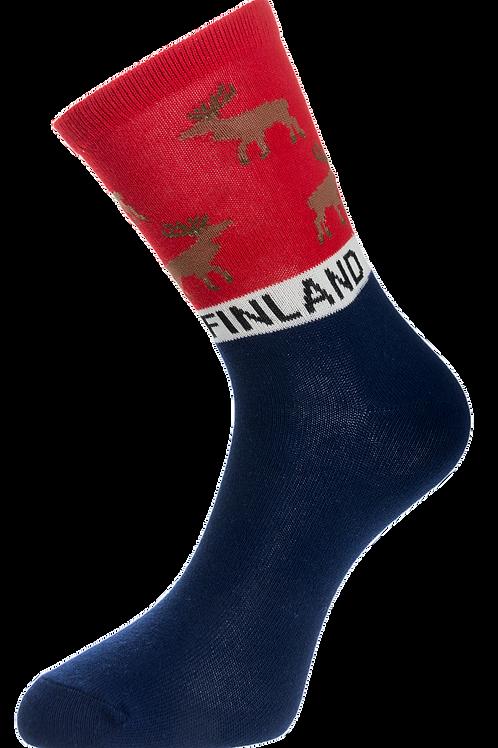 Finland Socks Reindeer Finnish Theme  | Suomi Sukat Poro Suomalainen Teema