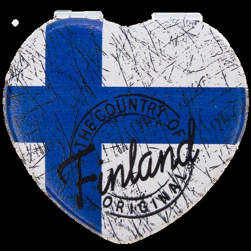 Finland Mirror Heart Finnish Flag Souvenir Gift | Suomi Peili Sydän Suomen Lippu Matkamuisto Lahja