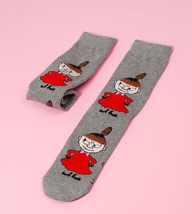 Little My Planning Tricks Ladies Socks Grey