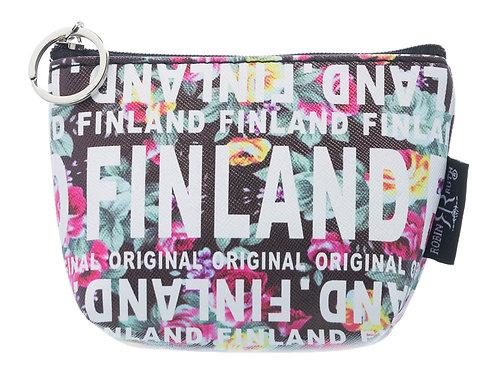Finland Coin Wallet Floral Print | Suomi Kolikko Lompakko Kukallinen Kuvio