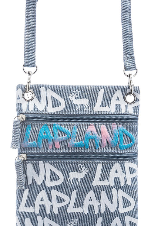Lapland Shoulder Bag Small Reindeer Denim | Lappi Olka Laukku Pieni Poro Denim