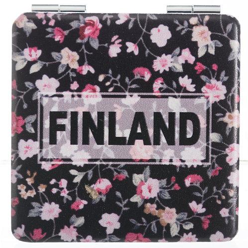Finland Mirror Floral Souvenir Gift | Suomi Peili Kukallinen Matkamuisto Lahja