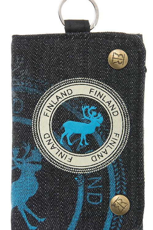 Finland Wallet Reindeer Denim | Suomi Lompakko Poro Denim