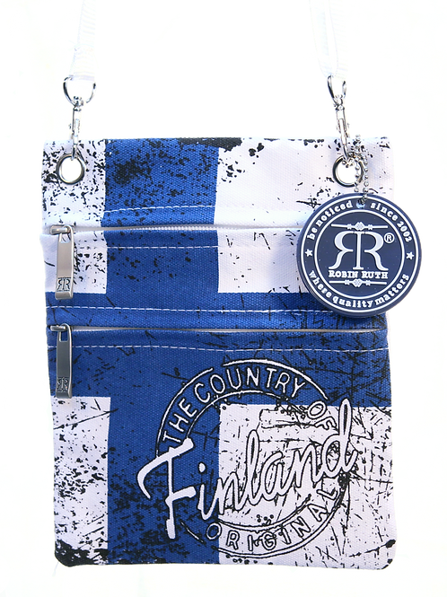 Finland Shoulder Bag Small Flag | Suomi Olka Laukku Pieni Lippu