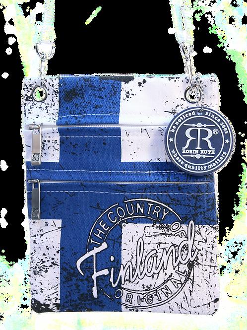 Finland Shoulder Bag Small Flag | Suomi Olka Laukku Pieni Lippu