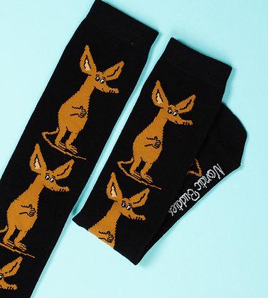 Sniff Happy Men Socks Black