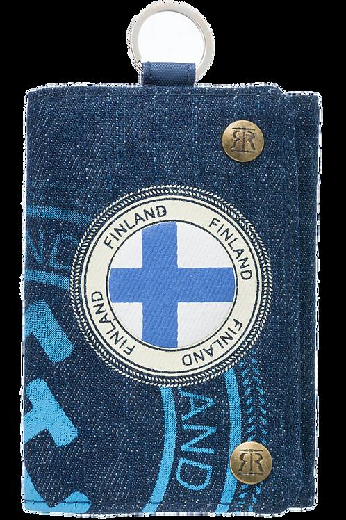 Finland Wallet Finnish Flag Denim | Suomi Lompakko Suomen Lippu Denim