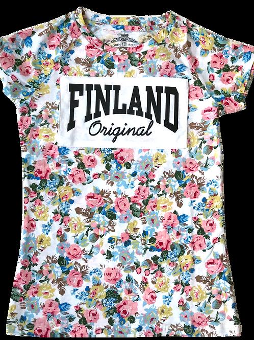 Finland T-shirt Women Floral | Suomi T-paita Naiset Kukallinen