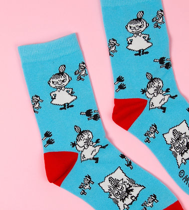 Little My Happiness Ladies Socks Blue/Red