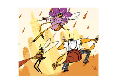 Bee Character Illustration