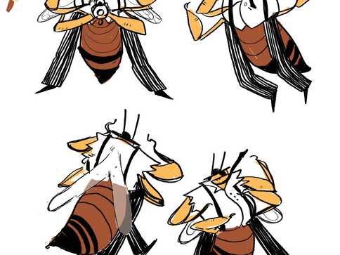 Drone Bee Character  Design