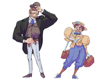 1890s Mystery Character Design
