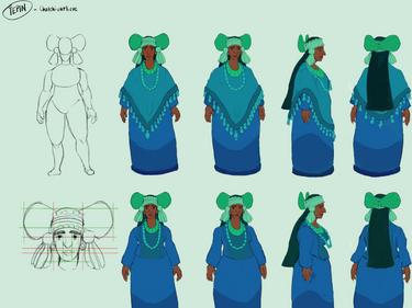 Chalchiuhtlicue Character Design