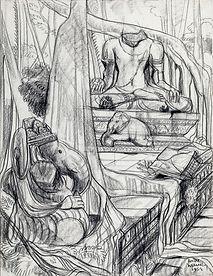 Ganesha and Buddha, Angkor