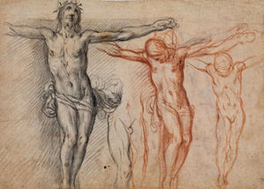 ALESSANDRO CASOLANI (1552/53–1607) | Christ on the Cross: four Studies for a Crucifixion | Private collection, Germany