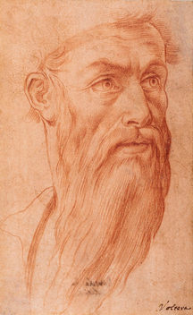 GIROLAMO MACCHIETTI (1535–1592)   Head of a Bearded Man, turned right   Private collection, New York