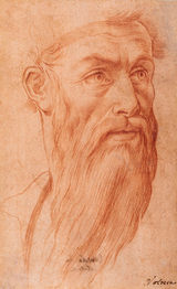 GIROLAMO MACCHIETTI (1535–1592) | Head of a Bearded Man, turned right | Private collection, New York