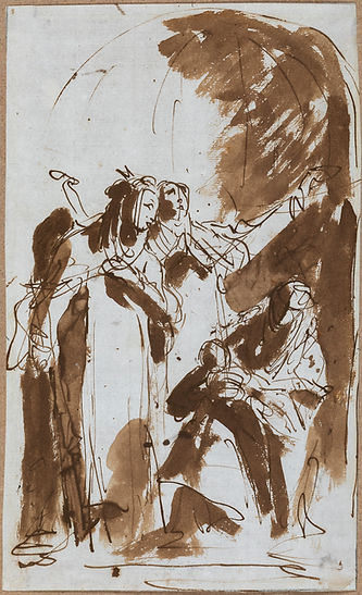 Tiepolo, G.B. | Saints Catherine of Siena, Rose of Lima and Agnes of Montepulciano holding the Christ Child