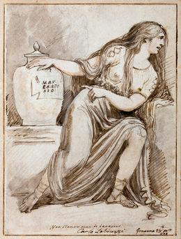 CARLO LABRUZZI (1748–1817)   Cleopatra mourning Mark Antony   Hamburger Kunsthalle