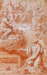 GIOVANNI MARIA MORANDI (1622-1717) ⎜The Vision of Saint Philip Neri ⎜Private collection, USA