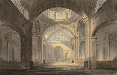 SIR JOHN SOANE (1753-1837) ⎜ The Three Percent Consolidated Office at the Bank of England, London ⎜ Private collection