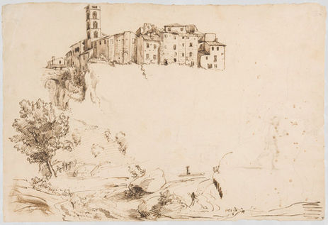 GASPAR VAN WITTEL (1653–1736) ⎜View of Valmontone, near Rome  ⎜Private collection, New York