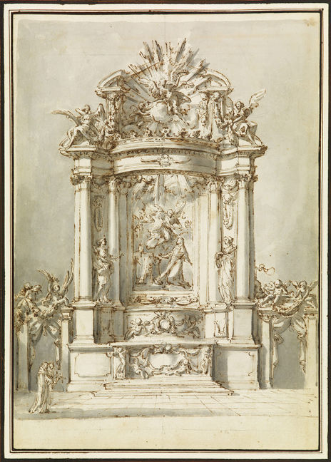 CARLO MARCHIONNI (1702–1786) ⎜ Design for an Altar dedicated to Saint Catherine of Siena ⎜ National Gallery of Canada, Ottawa