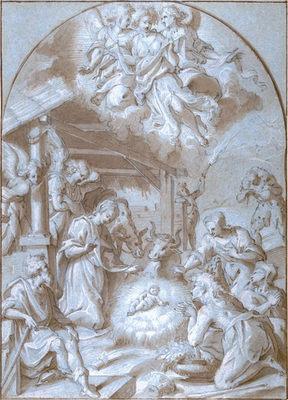 TOMMASO MANZUOLI, called MASO DA SAN FRIANO (1536-1571) ⎜The Adoration of the Shepherds ⎜ Private collection
