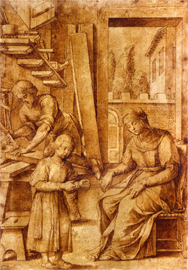 JACOPO LIGOZZI (1547-1627) ⎜The Holy Family ⎜Private collection, Chicago