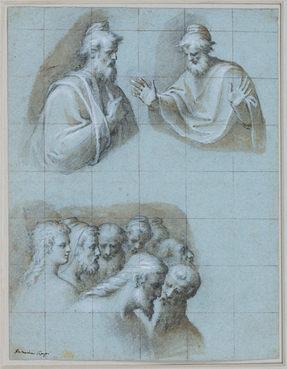 BERNARDINO CAMPI (1522-1595)   Study for Christ raising the Son of the Widow of Nain, S. Prospero, Reggio Emilia, 1589   Private collection, Chicago