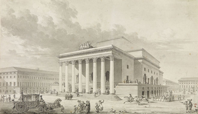 CHARLES LEDOUX (1736–1806) ⎜ Design for the New Theatre at Marseille, 1785 ⎜ Perivate collection