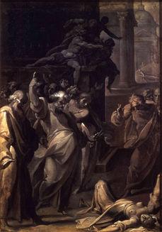 CRISTOFORO RONCALLI, called IL POMARANCIO (1551/2-1626) ⎜The Death of Ananias and Sapphira ⎜National Gallery of Canada, Ottawa