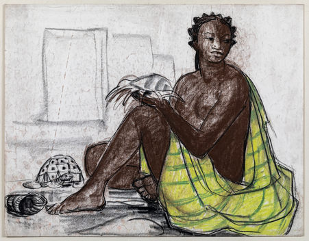 ANDRÉ MAIRE (1898–1984)   A Malgache seated, with Turtles   Private collection, London