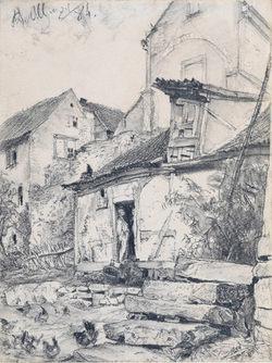 ADOLPH VON MENZEL (Breslau 1815–1905 Berlin)   The Church of Aura near Kissingen, 1884   Private collection, Switzerland
