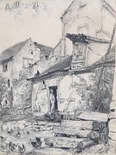 ADOLPH VON MENZEL (Breslau 1815–1905 Berlin) | The Church of Aura near Kissingen, 1884 | Private collection, Switzerland