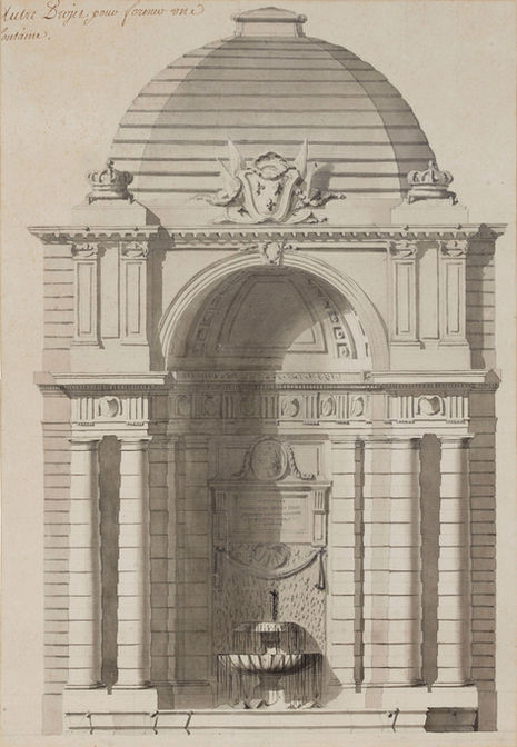 ANGE-JACQUES GABRIEL (1698–1782) ⎜ Design for a Fountain Pavilion in the Grande Ecurie du Roi, Fontainebleau ⎜ Private collection