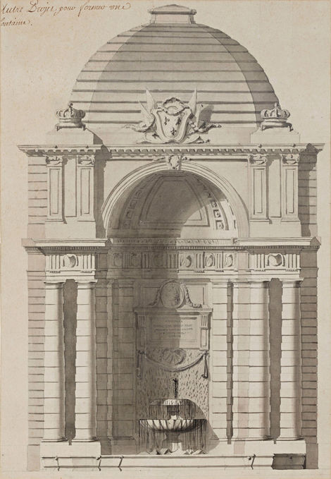 ANGE-JACQUES GABRIEL (1698–1782) ⎜ Design for a Fountain Pavilion in the Grande Ecurie du Roi, Fontainebleau ⎜ Private collection