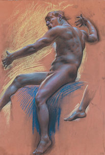 ADOLF HIRÉMY HIRSCHL (1860–1933) | Study for Triton playing the Harp | Private collection, Germany