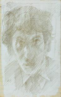 JOHN SERGEANT (1937-2010)   Self-Portrait   British Museum, London