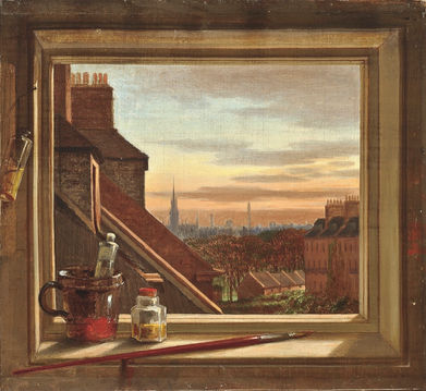 CHARLES HALKERSTON (d.1899) ⎜View from the Studio at Buccleuch Place, Edinburgh ⎜ Private collection, London