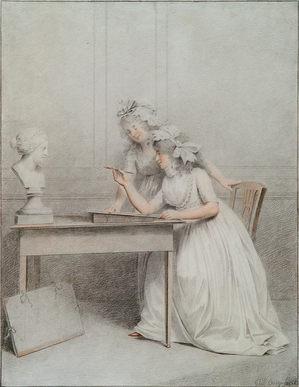 GIJSBERTUS JOHANNUS VAN DEN BERG (1769-1817) ⎜The Drawing Lesson ⎜ Private collection, London