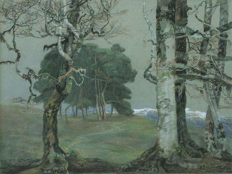 EMILIE MEDIZ-PELIKAN (1861–1908) ⎜Trees in a Landscape near Berchtesgaden ⎜Gemeentemuseum, The Hague