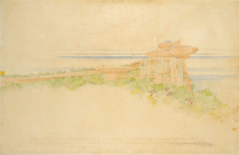 FRANK L. WRIGHT (1867–1959) ⎜ Project for a Country Club for Huntington Hartford ⎜ Private collection