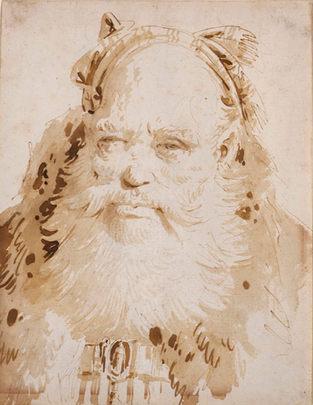GIOVANNI BATTISTA TIEPOLO (1696–1770) ⎜Head of an Oriental ⎜ Private collection, New York