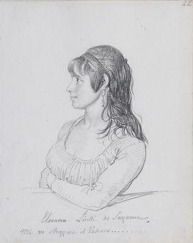 JEAN-BAPTISTE WICAR (1783–1859)   PORTRAIT OF ELEONORA LICETTI DI SARZANNA   Klassik Stiftung Weimar